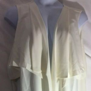 NEW Women Plus Sz 3X Cream White Vest Sleeveless
